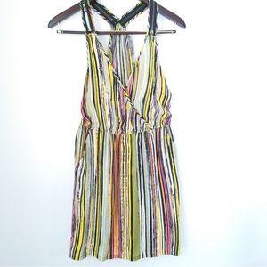 Charlie Jade striped  silk dress in Sz M